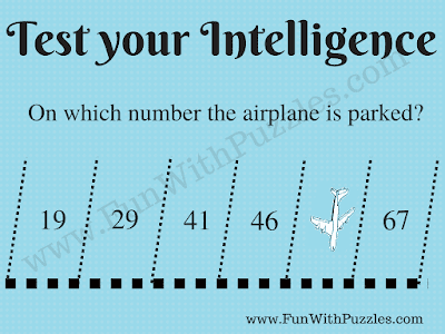 19, 29, 41, 46, ?, 67 Test your Intelligence