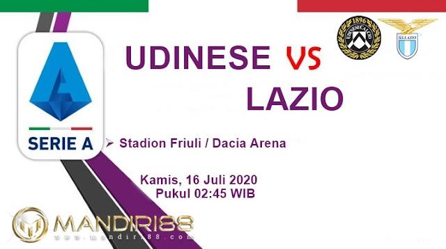 Prediksi Udinese Vs Lazio, Kamis 16 Juli 2020 Pukul 02.45 WIB