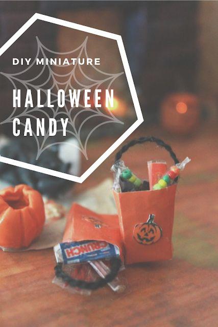 diy miniature dollhouse halloween candy
