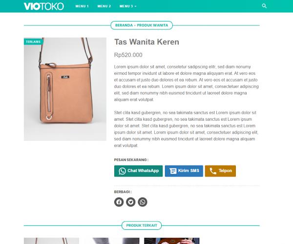 Template Toko Online Blogspot Fast Loading VioToko