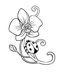 Gambar bunga untuk mewarnai