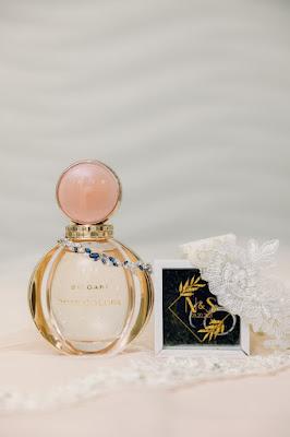 wedding perfume bottle details shot