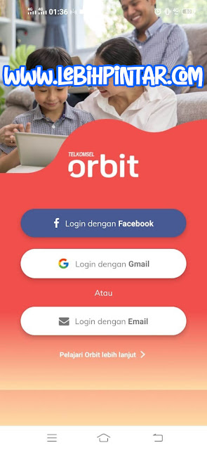cara login masuk ke aplikasi myorbit