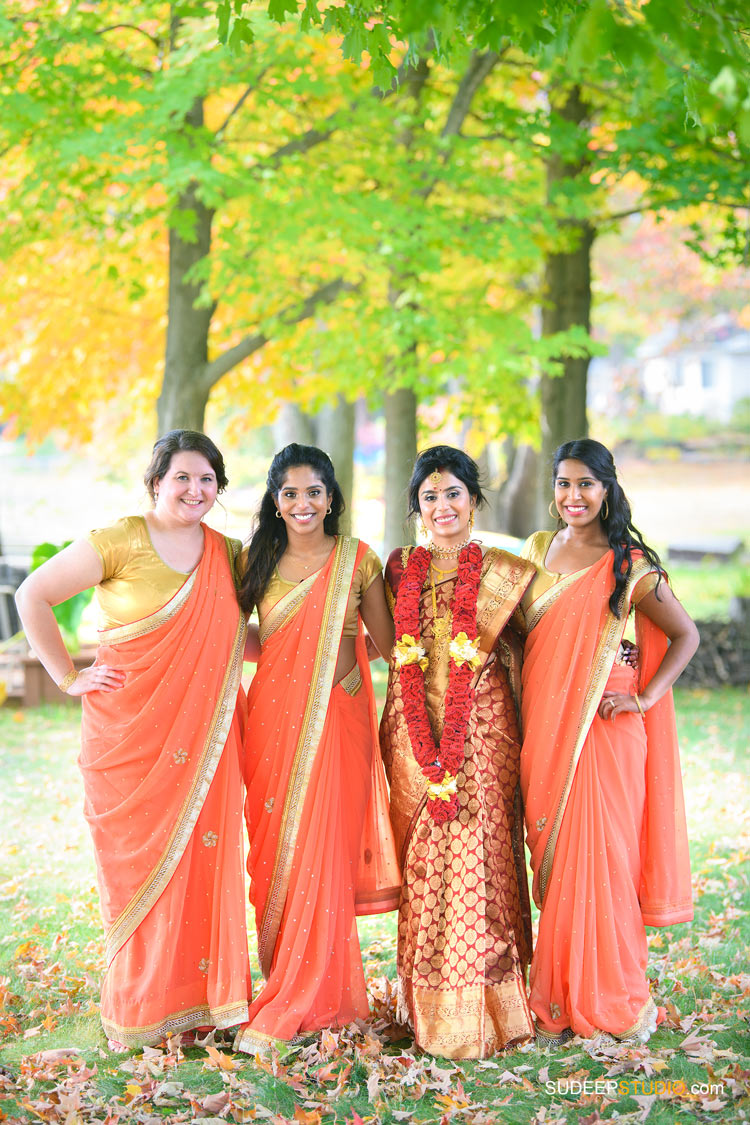 Indian Wedding Photography Bridesmaid Sari Dress by SudeepStudio.com Ann Arbor South Asian Indian Wedding Photographer