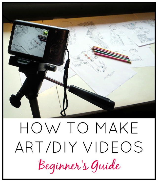 How to make speed art & DIY tutorial videos for Youtube. Beginner's guide for filming equipment, camera set-up, computer screen recording and editing software.