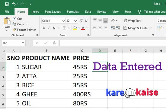 excel-data-table-kaise-banaye