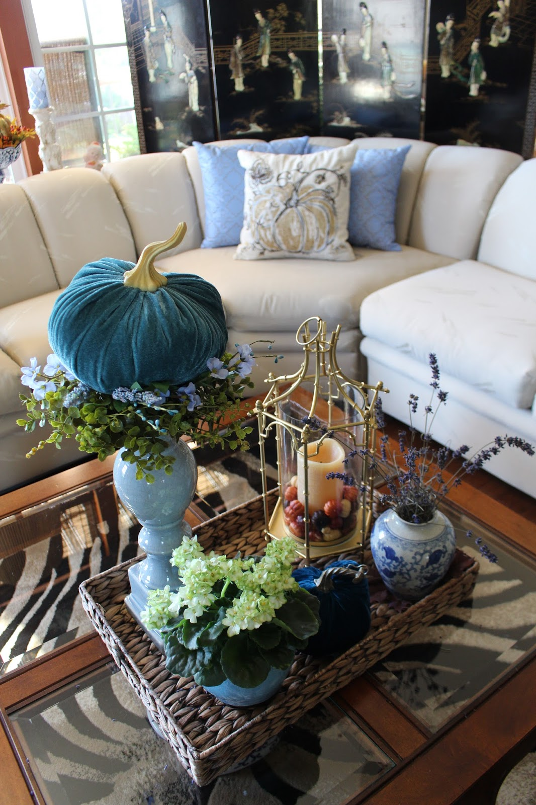 Designs By Pinky Fall Coffee Table Vignette And New Pillows