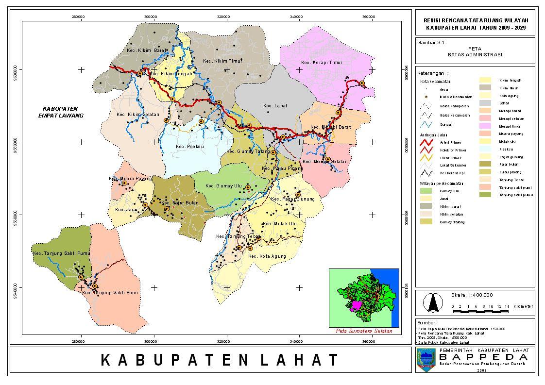 Peta Kota: Peta Kabupaten Lahat