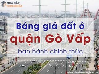 Bảng giá đất tại quận Gò Vấp được ban hành chính thức