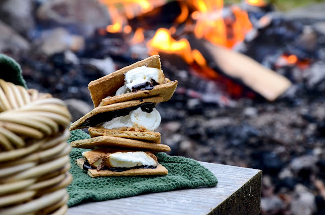 Lavender S'Mores and Hot Chocolate Around the Fire