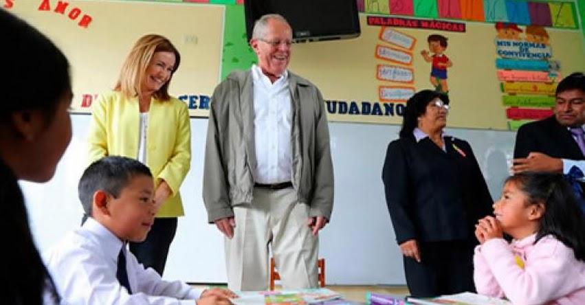 Presidente Kuczynski, ministra Martens y viceministros del Minedu supervisan primer día de clases en colegios públicos