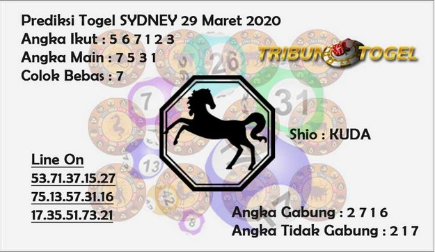 Syair Sidney Minggu 29 Maret 2020 - Prediksi Tribun Togel