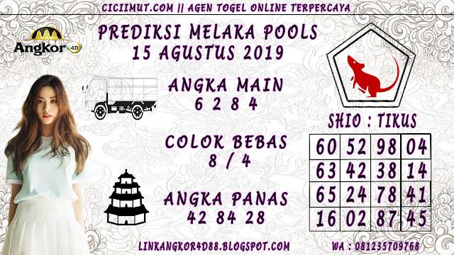 PREDIKSI MELAKA POOLS 15 AGUSTUS 2019
