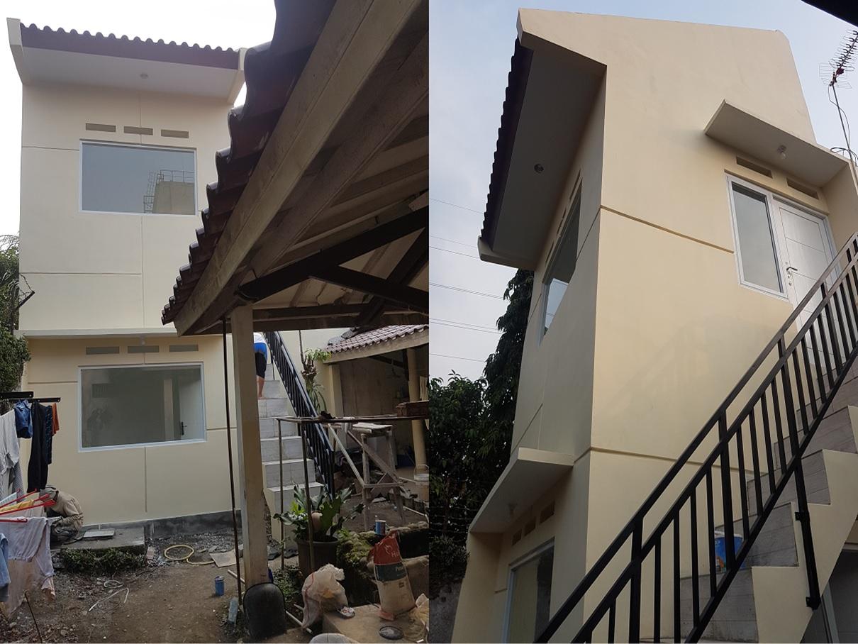 Hasil proyek Bangun Kamar baru 2 Lantai milik Bpk. Haikal Shalahudin di Jl. Teratai perumahan Taman Yasmin, Bogor, Tahun 2018