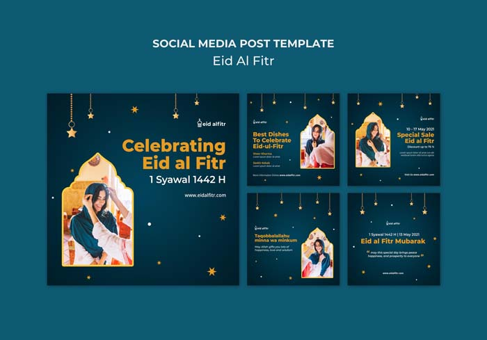 Eid Al Fitr Instagram Posts Collection