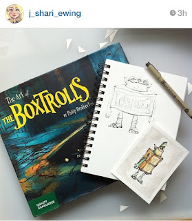 boxtrolls illustration ink book j shari ewing