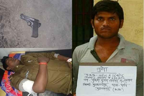 up-azamgarh-police-encounter-badmash-mukesh-kumar-rajbhar-news