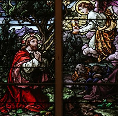 Imagem de Jesus Cristo no Horto das Oliveiras, vitral, #1
