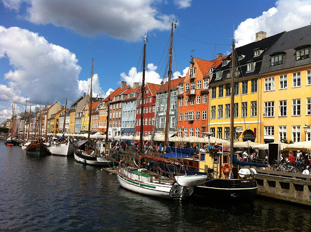 The port area of Nyhavn to see in Copenhagen