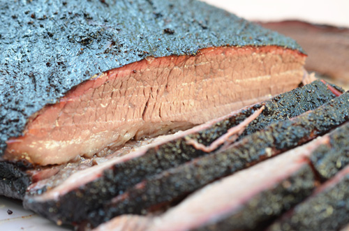 juicy brisket, sliced brisket, bbq brisket,