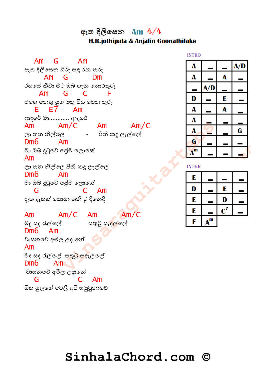 48 Guitar Chords In The Key Of A Guitar Key Of Chords A The In