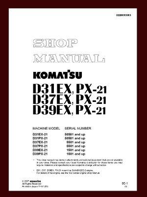 Shop Mnaul d37ex-21 d37px-21 bulldozer komatsu