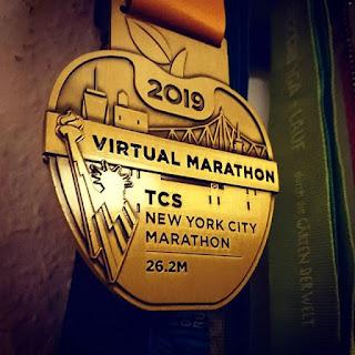 Virtual TCS NYC Marathon 2019 medaille