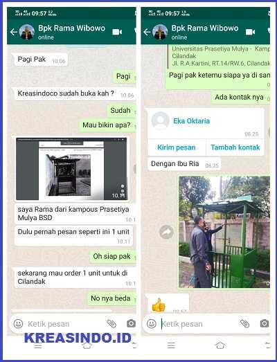 Pos Satpam Besi pesanan Universitas Prasetiya Mulya Cilandak Jakarta Selatan - Order ke Dua