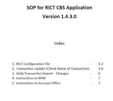 SB order 25/2021 SOP RICT CBS