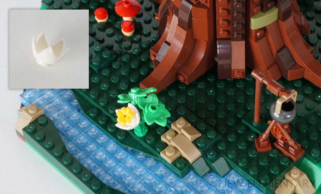 Lego 1 Yellowish Green wave flame NEW