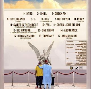 Artwork with tracklist of Davido's album 'A Good Time'