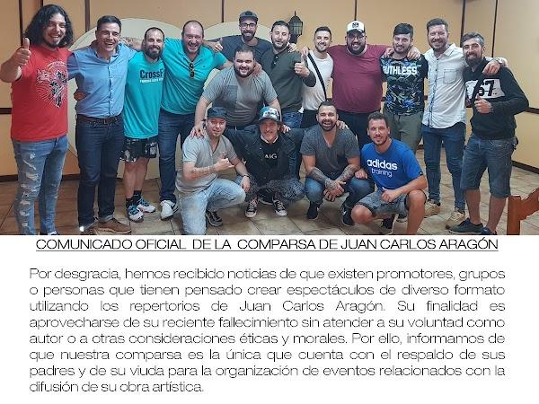 Comunicado de la Comparsa de JC Aragón