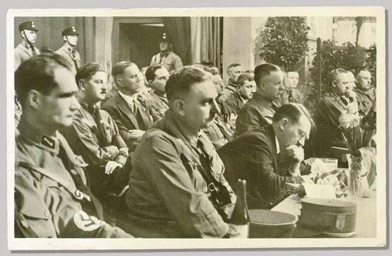 Rudolf Hess Julius Schreck Adolf Hitler Bernhard Rust worldwartwo.filminspector.com