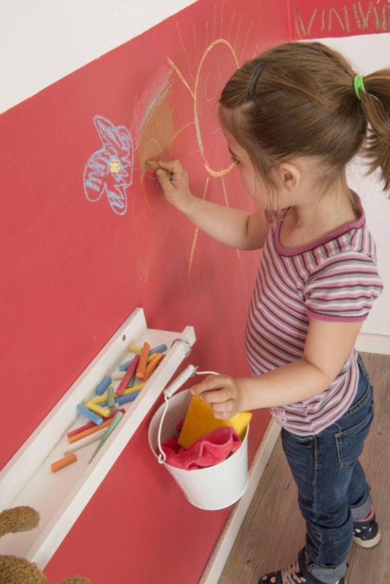 Como quitar manchas de crayon en la pared - Tafelfarbe kinderzimmer ...