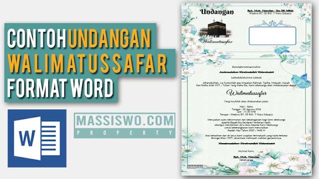 Undangan Walimatussafar