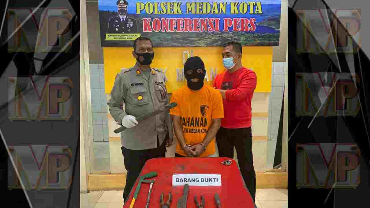 Patroli Polsek Medan Kota Gagalkan Pencurian Kabel Milik Telkom, Pelaku Inisial MR Warga Katamso