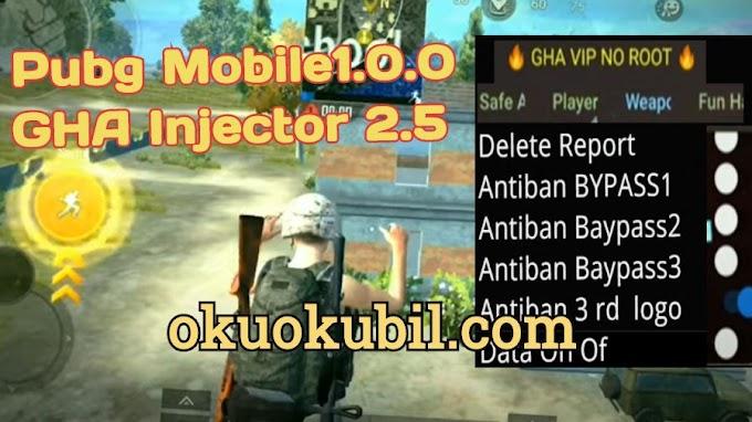 Pubg Mobile1.0.0 GHA Injector 2.5 Menu, Season 15 Hileli Apk Ekim 2020