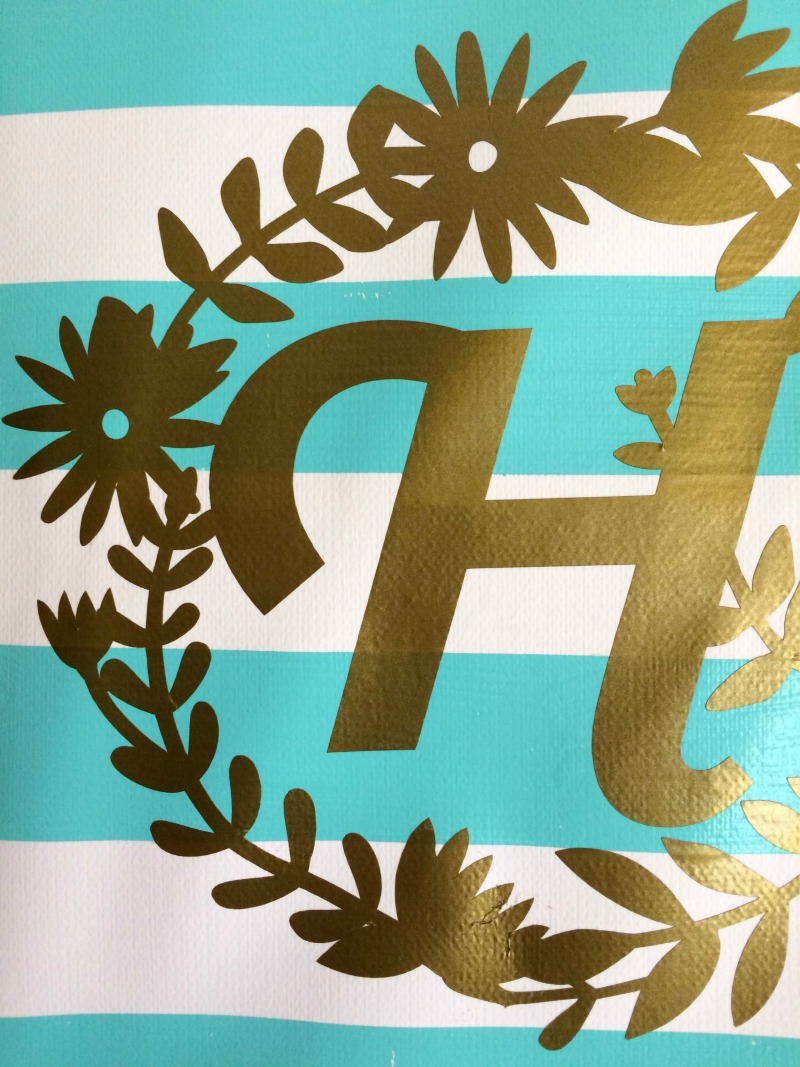 Fancy Make an easy monogrammed canvas wall art using your Cricut Explore