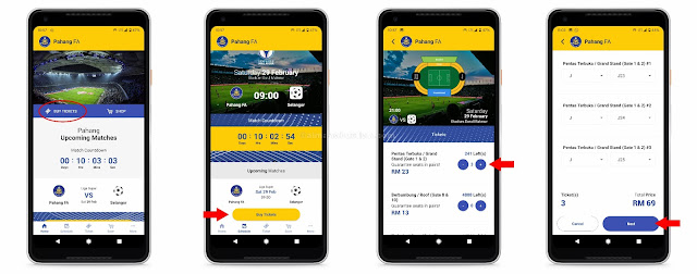 Cara Beli Tiket Menggunakan Aplikasi PahangFA