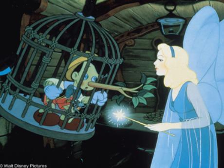 The Blue Fairy in Pinocchio 1940 animatedfilmreviews.filminspector.com