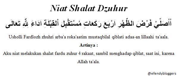 Bacaan Niat Shalat Fardhu 5 Waktu Islam Indah