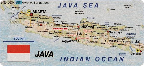 Kondisi Geografis Pulau Jawa Berdasarkan Peta (Luas, Batas, Keadaan Alam)