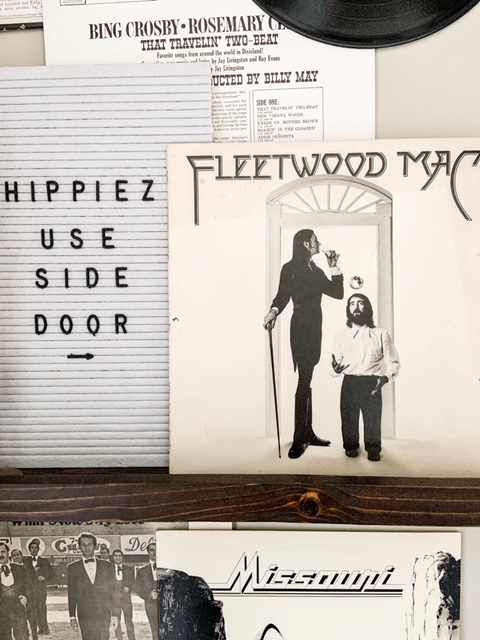 records for hallway decor