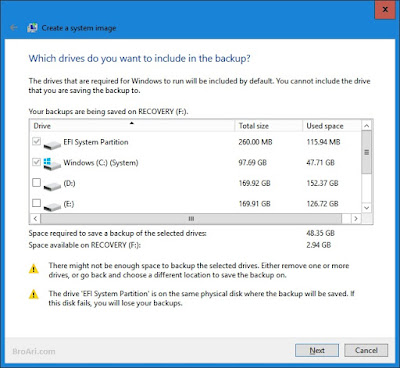 Cara Membuat Backup Image Sistem pada Windows 10