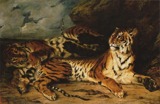 Ευγένιου Ντελακρουά, Νεαρή Τίγρης παίζει με τη Μητέρα της