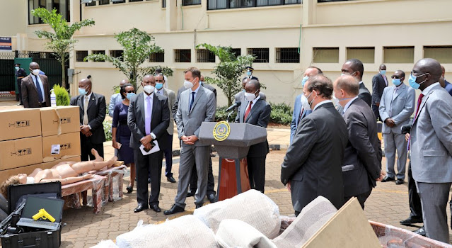 CS Joe Mucheru graced the handover event of an assortment of forensic investigations equipment donated to the DCI photo