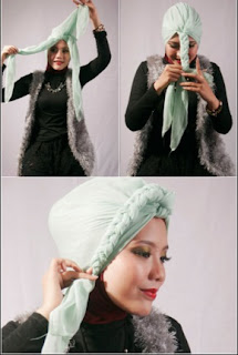 Tutorial Hijab Kepang Sederhana Dan Mudah