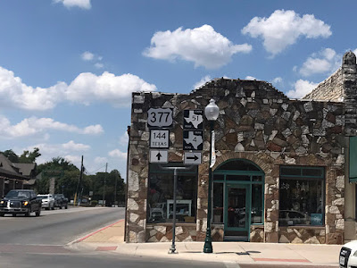 Road Signs in Historic Granbury Square
