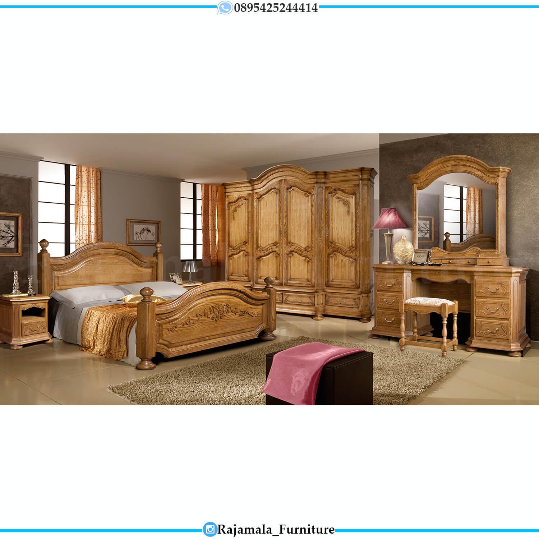 Tempat Tidur Kayu Jati Minimalis Classic Natural Salak Color RM-0441