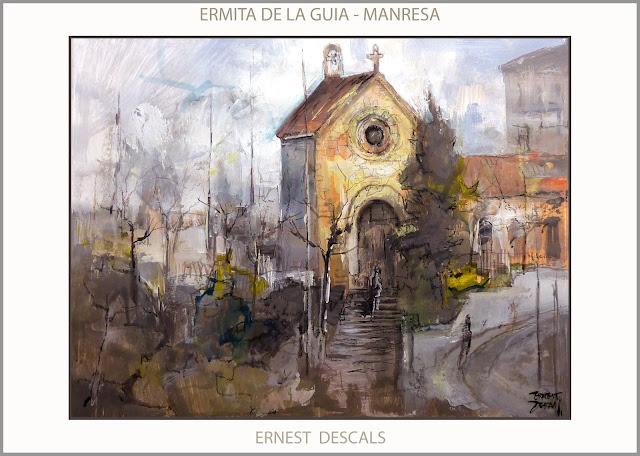ERMITA-GUIA-CAPELLA-PINTURA-MANRESA-RUTA IGNASIANA-SANT IGNASI-PAISATGES-PINTURES-ART-ARTISTA-PINTOR-ERNEST DESCALS-